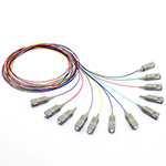 1.5 meter SC 12 Fiber 50/125 OM3, 10 GIG Multimode Fiber Optic Pigtail Kit