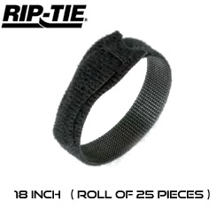 18 Inch by 1/2 wide Rip-Tie Lite Cable Ties - Roll of 25 pieces