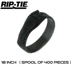 18 Inch by 1/2 wide Rip-Tie Lite Cable Ties - Spool of 400 pieces