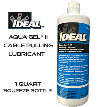 Aqua-Gel® II Cable Pulling Lubricant 1-Quart Squeeze Bottle