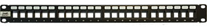 QuickTreX® 24 Port Keystone Blank Patch Panel (1 RU)