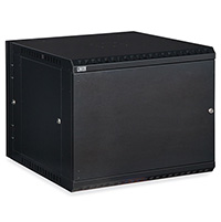 9U LINIER® Swing-Out Wall Mount Cabinet - Solid Door