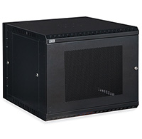 9U LINIER® Swing-Out Wall Mount Cabinet - Vented Door