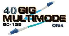 OM4 40-GIG 50/125 Fiber Optic Patch Cables. Custom made in USA.