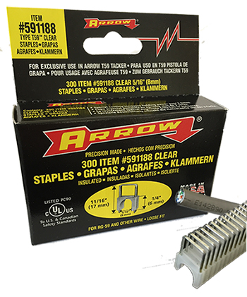 "1/4"" x 5/16"" Insulated Staples for T59 Stapler"