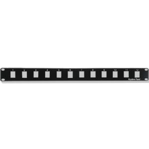12 Port Keystone Blank Patch Panel (1 RU)