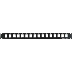 16 Port Keystone Blank Patch Panel (1 RU)
