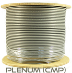Cat 5E 350 Shielded (STP), Plenum rated (CMP), Solid Cond. Cable - 1000 Ft by ABA Elite
