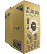 Cat 5E 350 UTP, PVC, (CM), Stranded Cond. Cable - 1000 Ft by ABA Elite