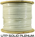 Cat 6A 10GS, UTP, Plenum Rated (CMP), Solid Cond. Cable - 1000 Ft by ABA Elite