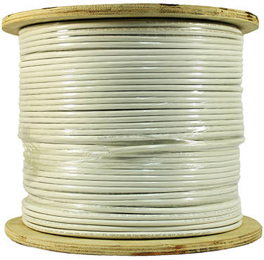 Cat 6A 10GS, UTP, Riser Rated (CMR), Solid Cond. Cable - 1000 Ft by ABA Elite