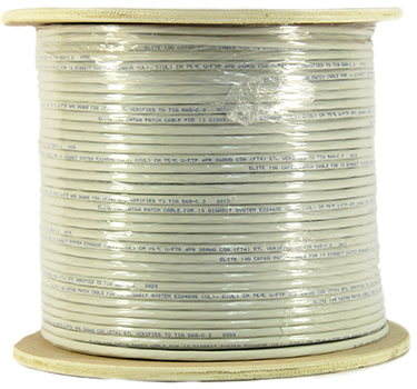 Cat 6A 10GS Shielded (FTP), (CM), Stranded Cond. Cable - 1000 Ft by ABA Elite