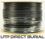 Cat 6E 600, UTP, Direct Burial, CMX, Solid Cond. Cable - 1000 Ft by ABA Elite