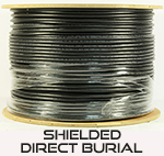 Cat 6E 600 Shielded (STP), Direct Burial, CMX, Solid Cond. Cable - 1000 Ft by ABA Elite