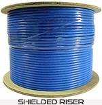 Cat 6 1000x Shielded (FTP), PVC, Riser rated (CMR), Solid Cond. Cable - 1000 Ft by ABA Elite
