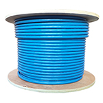Cat 8 Shielded - 40G- 23AWG, 2000MHZ, S/FTP Shielded, PVC, Solid Conductor Ethernet Cable - 300 Ft - Blue