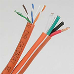 Cat 5E / 16/4 AWG Audio Combo Riser Rated Cable (CMR) - ORANGE - 500ft