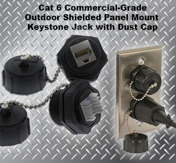 Industrial Cat 6 Jack Outdoor Cat 6 Keystone Jack