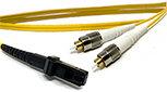 By The Inch -  Measured Tip to Tip, MT-RJ to FC, 9/125, Singlemode Duplex Patch Cable - Plenum Rated - USA CustomLine by QuickTreX®
