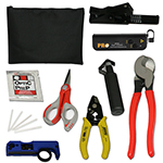 Fiber Optic Tool Kit with Visual Fault Locator