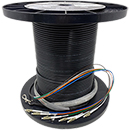 "12 Strand CustomLine Indoor/ Outdoor Multimode 10-GIG 50/125 OM3 Multimode ""Fiber Whips"" Assembly"