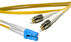 3 meter FC to LC Singlemode Duplex Patch Cable - CustomLine