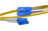 LC to SC Singlemode Duplex Fiber Optic Patch Cable