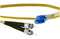 LC to ST Singlemode Duplex Fiber Optic Patch Cable