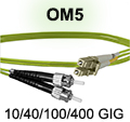 LC to ST OM5 Patch Cable