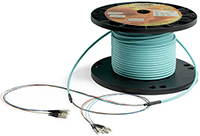 6 Strand Custom Indoor Ultra Thin Micro Armor (Plenum) 50/125 OM3 Multimode Pre-Terminated Fiber Optic Assembly by QuickTreX