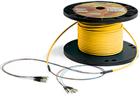 2 Strand Custom Indoor Ultra Thin Micro Armor (Plenum) Singlemode  Pre-Terminated Fiber Optic Assembly by QuickTreX