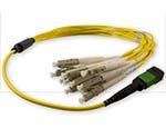 Custom MTP/MPO to LC Singlemode 12 Fiber Fanout Cable - Plenum Rated - made in USA by QuickTreX