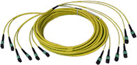 Custom MTP/MPO Singlemode 72 Fiber Trunk Cable - Plenum Rated - made in USA by QuickTreX