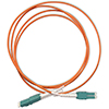 Stock 2 meter LC to LC Uniboot 50/125 OM2,  Multimode Duplex Patch Cable