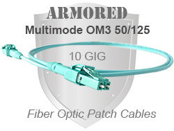 Armored OM3 Patch Cable