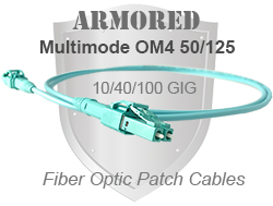 Armored OM4 Patch Cables