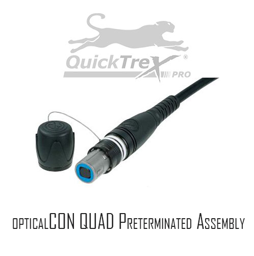 Custom 4 Channel OpticalCON QUAD Field Tactical Assembly, Multimode OM3 50/125, by QuickTreX