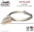 "6 Ft ""110"" to ""RJ-45"" Cat 5E Custom Patch Cable"