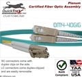 6 meter LC to SC, OM4, 40 GIG Multimode Duplex Patch Cable - Plenum Rated - USA CustomLine by QuickTreX®
