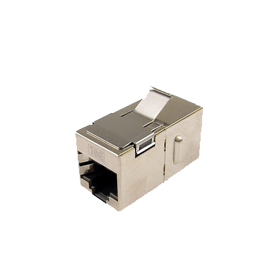 QuickTreX® Cat 6A Shielded Coupler, Channel Rated, Keystone Mount