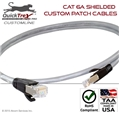 "1 Foot Cat 6A ""10G"" Shielded Custom Patch Cable"