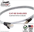 "13-23"" Cat 6E Shielded Custom Patch Cable"