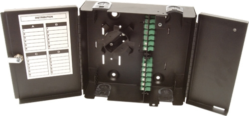4 Panel Wall Mount Termination Box Enclosure with Splice Kit - LGX Chassis by Multilink®