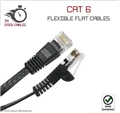 10 Ft Cat 6 Flexible Flat Patch Cable
