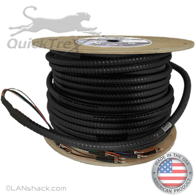 2 Strand Indoor/Outdoor Plenum 62.5/125 OM1 Multimode Interlock Armor Cable