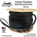 4 Strand Indoor/Outdoor Plenum 40-GIG 50/125 OM4 Multimode Interlock Armor Cable
