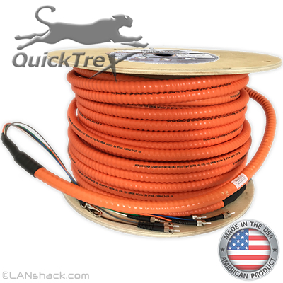 2 Strand Indoor Plenum 62.5/125 OM1 Multimode Interlock Armor Cable