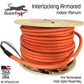 4 Strand Indoor Plenum 62.5/125 OM1 Multimode Interlock Armor Cable