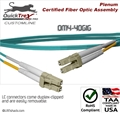 6 meter LC to LC, OM4, 40 GIG Multimode Duplex Patch Cable - Plenum Rated - USA CustomLine by QuickTreX®