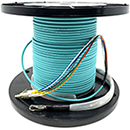 "4 Strand CustomLine Indoor (Plenum) 10-GIG 50/125 OM3 Multimode ""Fiber Whips"" Assembly"